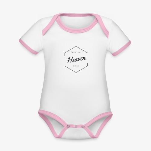 Heaven Since 1991 - Body da neonato a manica corta, ecologico e in contrasto cromatico