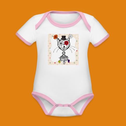 cat color - Organic Baby Contrasting Bodysuit