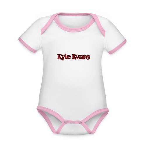 KYLE EVANS TEXT T-SHIRT - Organic Baby Contrasting Bodysuit