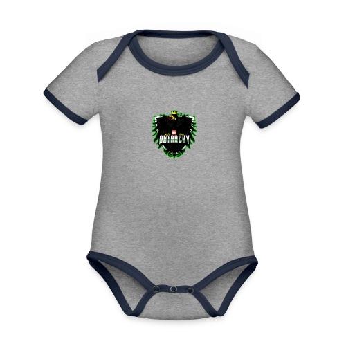 AUTarchy green - Baby Bio-Kurzarm-Kontrastbody