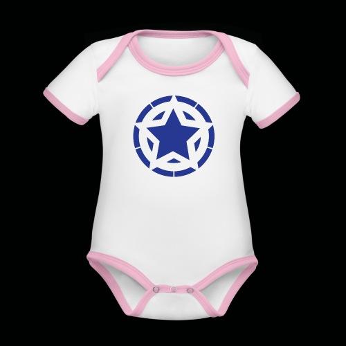 Stern Logo - Baby Bio-Kurzarm-Kontrastbody