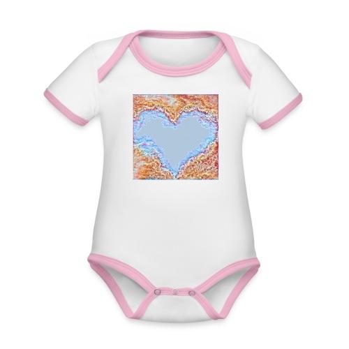 Hart - Body da neonato a manica corta, ecologico e in contrasto cromatico