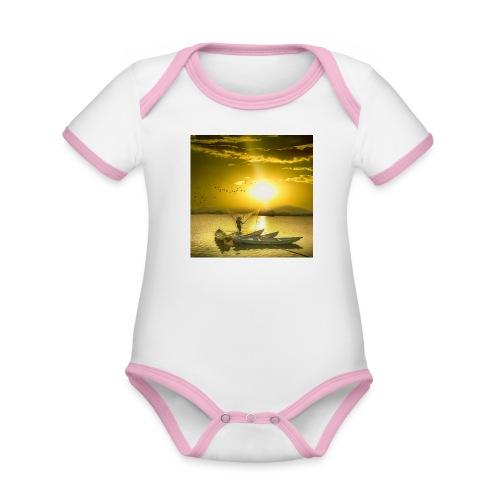 Tramonto - Body da neonato a manica corta, ecologico e in contrasto cromatico