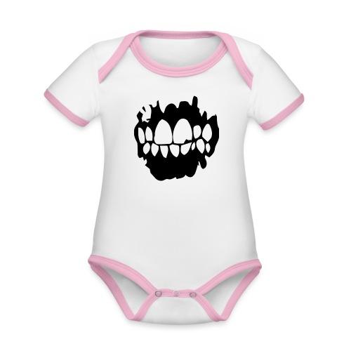 Clean Teeth - Ekologisk kontrastfärgad kortärmad babybody