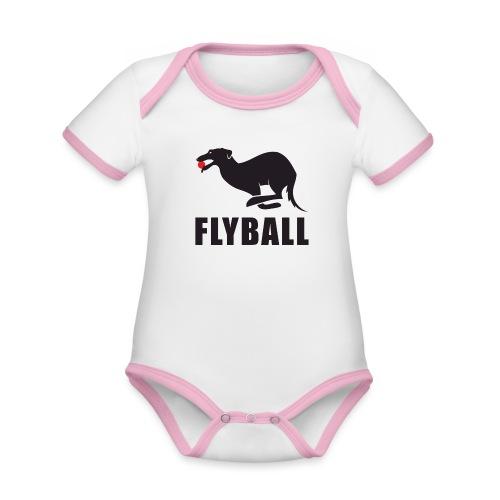 Flyball - Body contraste para bebé de tejido orgánico