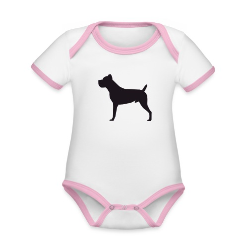 Cane Corso Italiano - Body contraste para bebé de tejido orgánico