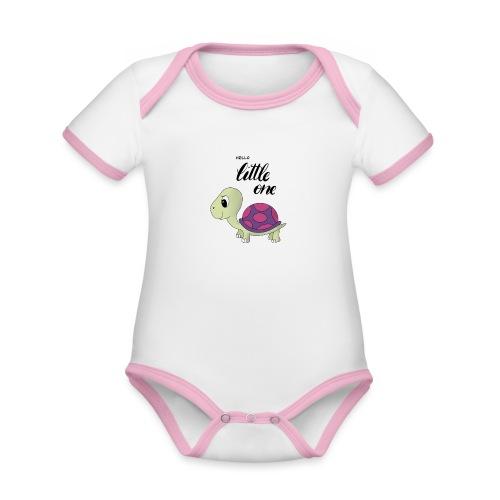 Little Turtle - Baby Bio-Kurzarm-Kontrastbody