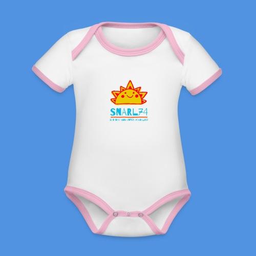 Sun - Body da neonato a manica corta, ecologico e in contrasto cromatico