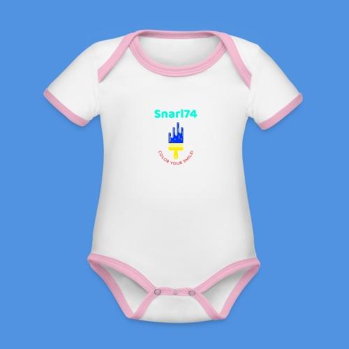 Paint - Body da neonato a manica corta, ecologico e in contrasto cromatico