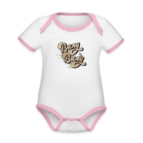 BANG BANG ! - Body Bébé bio contrasté manches courtes