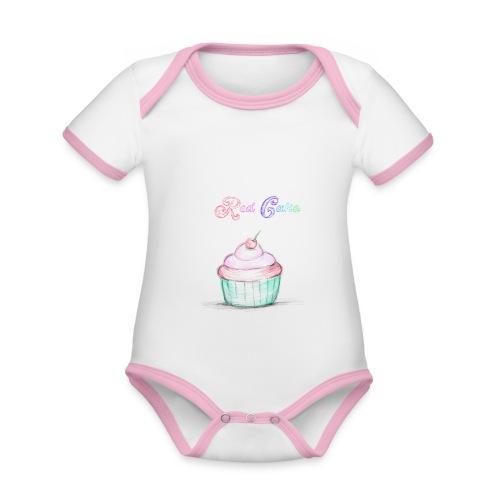 red cake - Body contraste para bebé de tejido orgánico