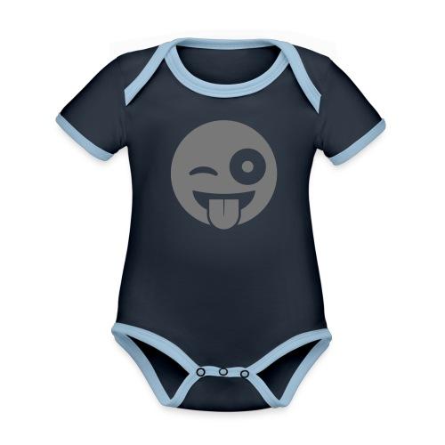 Emoji - Baby Bio-Kurzarm-Kontrastbody