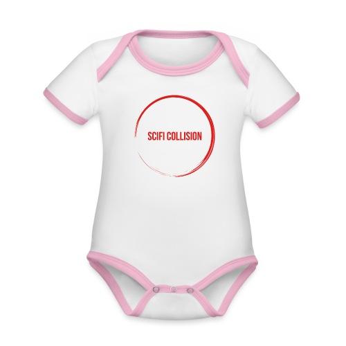 Red Logo - Organic Baby Contrasting Bodysuit