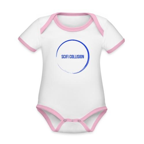 Dark Blue Logo - Organic Baby Contrasting Bodysuit