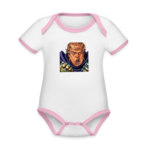trump cartoon characters free to pull the material - Body Bébé bio contrasté manches courtes