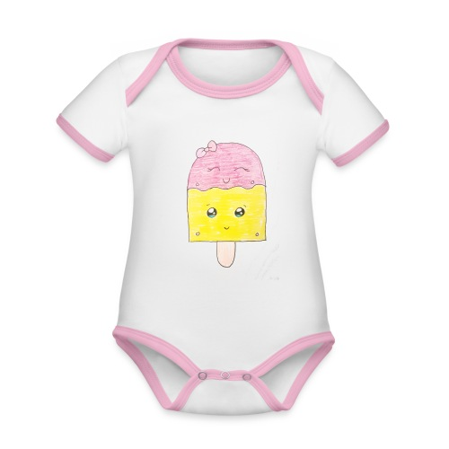 Kids for Kids: Icecream - Baby Bio-Kurzarm-Kontrastbody