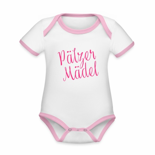Pälzer Mädel - Baby Bio-Kurzarm-Kontrastbody