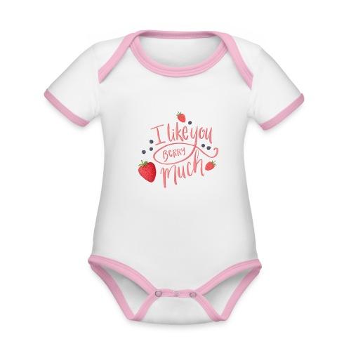 Like you berry much - Ekologisk kontrastfärgad kortärmad babybody
