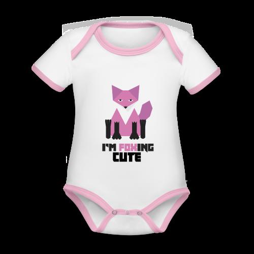 I'm Foxing Cute : Girl Edition - Body Bébé bio contrasté manches courtes