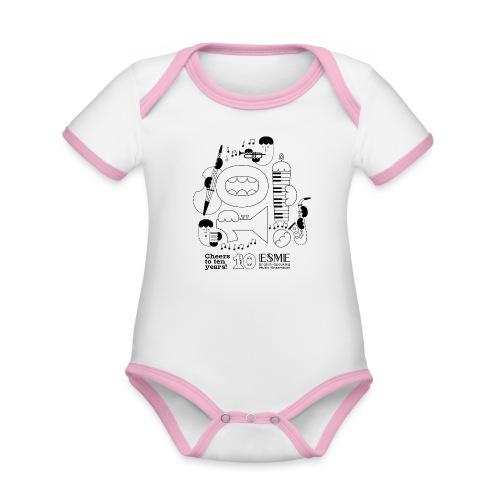 ESME Anniversary Design Schwartz - Baby Bio-Kurzarm-Kontrastbody