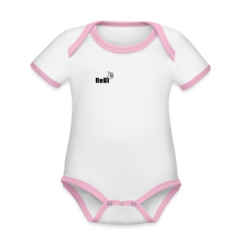 NeBiLOGO - Vauvan kontrastivärinen, lyhythihainen luomu-body