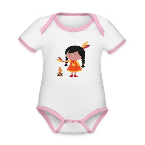 Happy Meitlis - Amerika - Baby Bio-Kurzarm-Kontrastbody