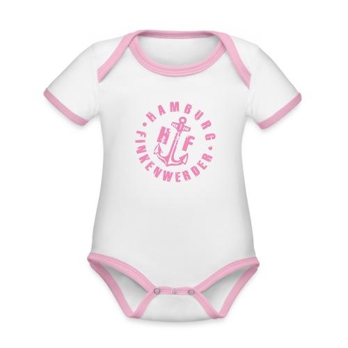 HF rosa - Baby Bio-Kurzarm-Kontrastbody
