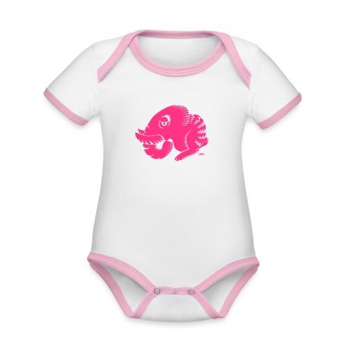 Hasofant - Baby Bio-Kurzarm-Kontrastbody