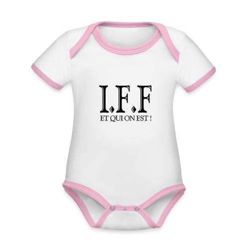 IFF FACISTI FORA - Body Bébé bio contrasté manches courtes