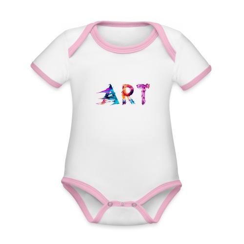 Art - Body Bébé bio contrasté manches courtes