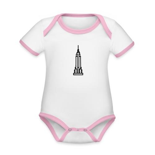 Empire State Building - Body Bébé bio contrasté manches courtes
