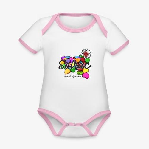 SOLRAC Hearts White - Body contraste para bebé de tejido orgánico