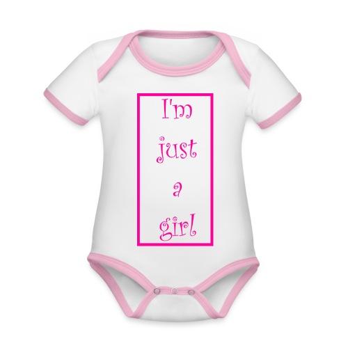 I' m just a girl #1 - Baby Bio-Kurzarm-Kontrastbody