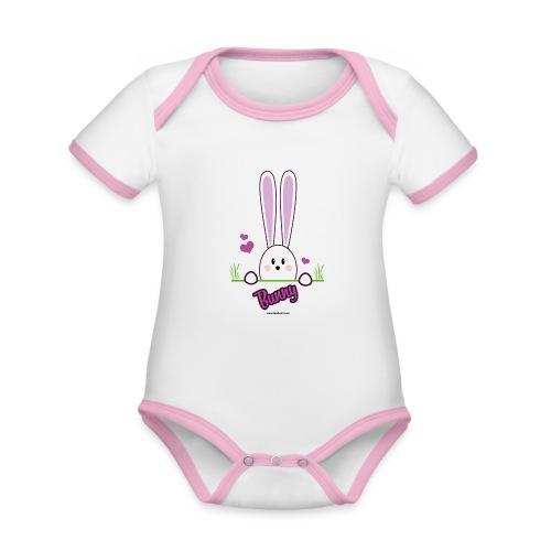 süßes Häschen - Baby Bio-Kurzarm-Kontrastbody
