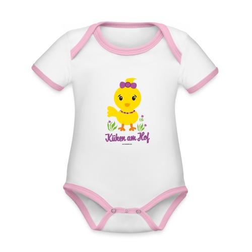 Ostern für kleine Mädchen - Baby Bio-Kurzarm-Kontrastbody
