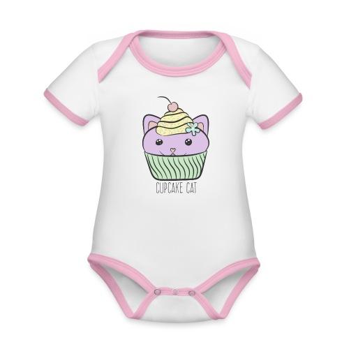 Cupcake Cat - Baby Bio-Kurzarm-Kontrastbody