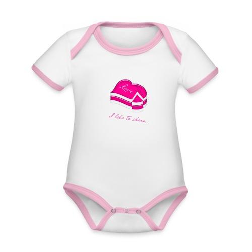 love cake - Baby Bio-Kurzarm-Kontrastbody