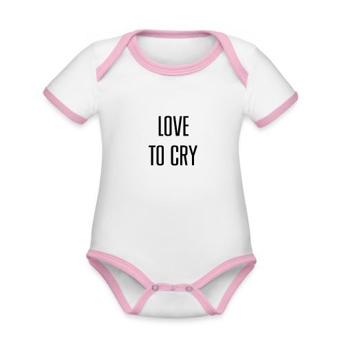 love to cry - Body Bébé bio contrasté manches courtes