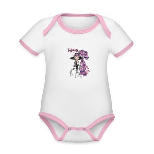 Pantherilly Tiffany - Body da neonato a manica corta, ecologico e in contrasto cromatico