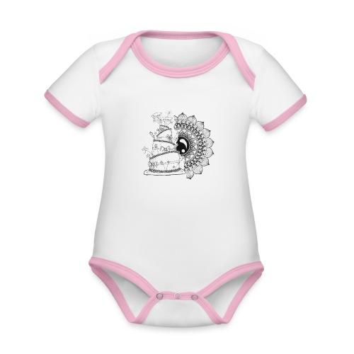 TortaMandala - Body da neonato a manica corta, ecologico e in contrasto cromatico