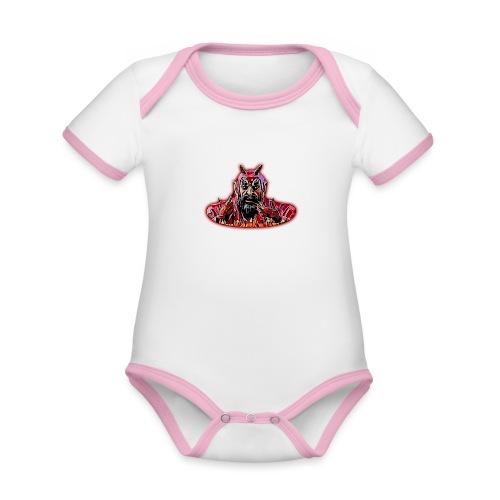 DEMONIO - Body contraste para bebé de tejido orgánico