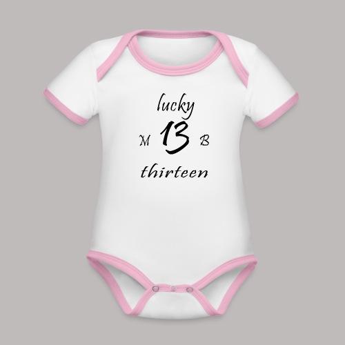 lucky 13 MB - Organic Baby Contrasting Bodysuit