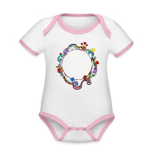 HerzensKreis - Baby Bio-Kurzarm-Kontrastbody