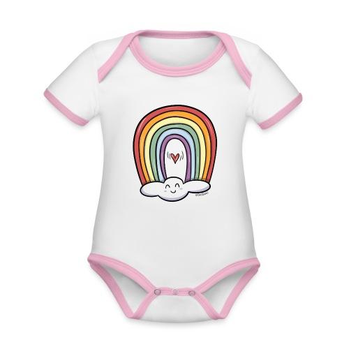 ARCOIRIS - Body contraste para bebé de tejido orgánico