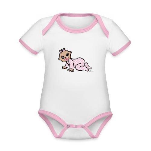 Baby Girl - Baby Bio-Kurzarm-Kontrastbody