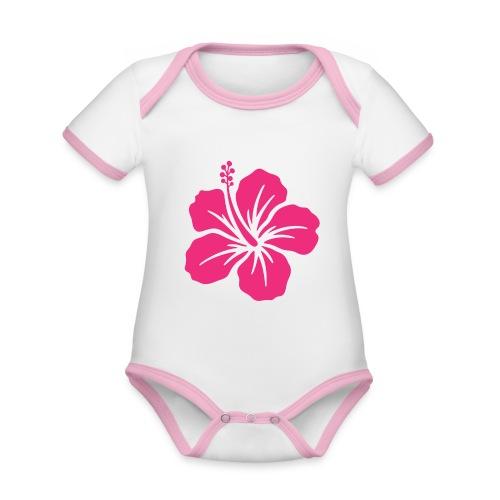Camisetas, blusas, forros celulares de flor rosada - Body contraste para bebé de tejido orgánico