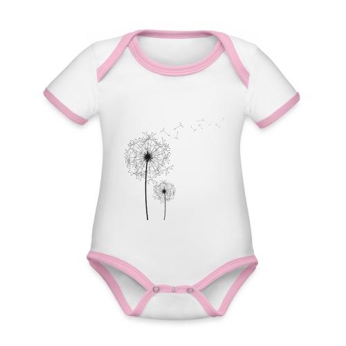 Dandelion - Organic Baby Contrasting Bodysuit