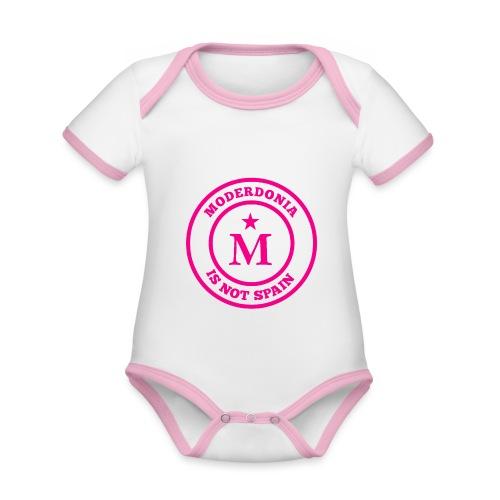 Moderdonia is not Spain rosa - Body contraste para bebé de tejido orgánico
