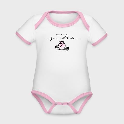 Das größte Geschenk / pink – Baby Kollektion - Baby Bio-Kurzarm-Kontrastbody