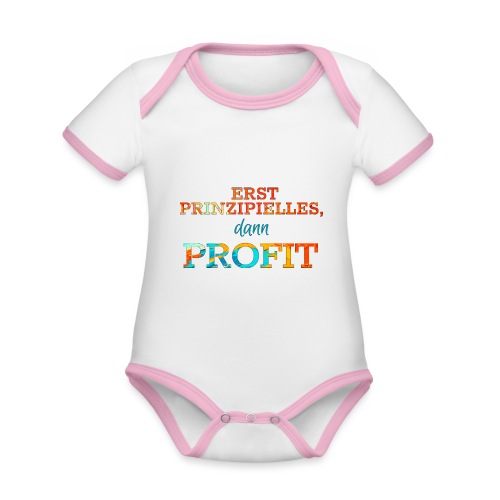 Erst Prinzipielles, dann Profit - Organic Baby Contrasting Bodysuit